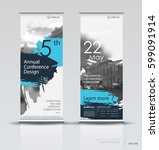design of a roll up vertical... | Shutterstock .eps vector #599091914