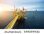 offshore oil and gas rig... | Shutterstock . vector #599099930