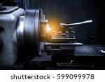 close up cnc milling machine... | Shutterstock . vector #599099978