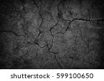 cracked concrete wall covered... | Shutterstock . vector #599100650
