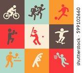 sport icons set   Shutterstock .eps vector #599102660