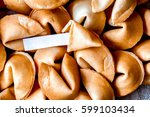 many chinese fortune cookie... | Shutterstock . vector #599103434