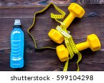 concept preparing to fitness... | Shutterstock . vector #599104298