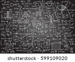 math education vector pattern... | Shutterstock .eps vector #599109020