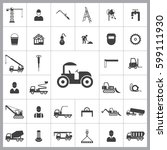 road roller icon. construction... | Shutterstock .eps vector #599111930