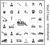 loader icon. construction icons ... | Shutterstock .eps vector #599111936
