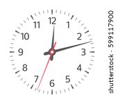 clock face with hour  minute... | Shutterstock .eps vector #599117900