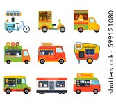 street food festival color... | Shutterstock .eps vector #599121080