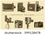 evolution of the photo  video ... | Shutterstock .eps vector #599128478