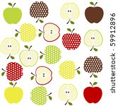 fruits background | Shutterstock .eps vector #59912896