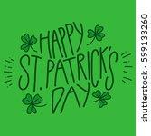 happy saint patrick's day  | Shutterstock .eps vector #599133260