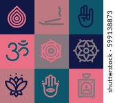 zen icons set | Shutterstock .eps vector #599138873