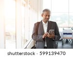 indian business male using... | Shutterstock . vector #599139470