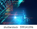 programming code abstract... | Shutterstock . vector #599141396