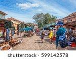 trinidad  cuba  march 8  2016 ... | Shutterstock . vector #599142578