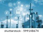 industry 4.0 concept  smart... | Shutterstock . vector #599148674