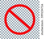no sign icon. vector on... | Shutterstock .eps vector #599154716