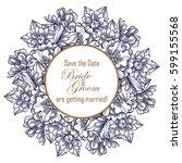vintage delicate invitation... | Shutterstock .eps vector #599155568