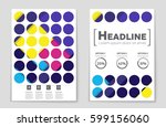 abstract vector layout... | Shutterstock .eps vector #599156060