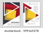 abstract vector layout... | Shutterstock .eps vector #599165378