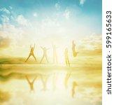 new generation women people... | Shutterstock . vector #599165633