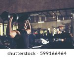 fitness people doing exercises...   Shutterstock . vector #599166464