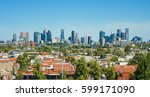 Skyline View Of Melbourne ...
