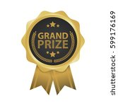 grand prize win gold badges...   Shutterstock .eps vector #599176169