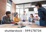 group of five creative worker... | Shutterstock . vector #599178734