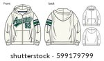 vector illustration of hoodie...   Shutterstock .eps vector #599179799