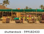 arambol beach  goa  india  ... | Shutterstock . vector #599182433