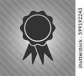vector illustration of ribbon... | Shutterstock .eps vector #599192243