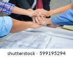 close up group of asian...   Shutterstock . vector #599195294