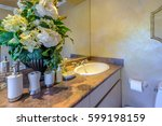 fragment of a luxury bathroom | Shutterstock . vector #599198159