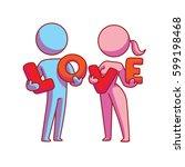 vector cartoon image of a... | Shutterstock .eps vector #599198468