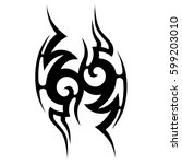 vector tribal tattoo designs.... | Shutterstock .eps vector #599203010