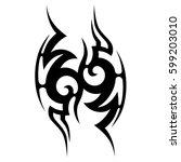 tattoo tribal vector designs...   Shutterstock .eps vector #599203010