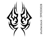 tribal designs. tribal tattoos. ... | Shutterstock .eps vector #599203028