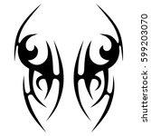 tattoo tribal vector designs... | Shutterstock .eps vector #599203070