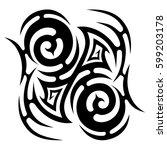 tribal designs. tribal tattoos. ... | Shutterstock .eps vector #599203178