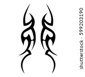 vector tribal tattoo designs.... | Shutterstock .eps vector #599203190