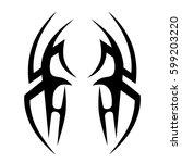tattoo tribal vector designs... | Shutterstock .eps vector #599203220
