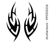 tattoo tribal vector designs... | Shutterstock .eps vector #599203226