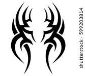 tribal designs. tribal tattoos. ... | Shutterstock .eps vector #599203814