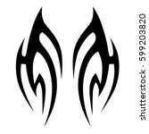 tattoo tribal vector designs... | Shutterstock .eps vector #599203820