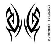 tattoo tribal vector designs... | Shutterstock .eps vector #599203826