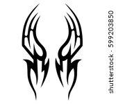 vector tribal tattoo designs.... | Shutterstock .eps vector #599203850