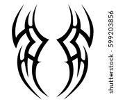 tattoo tribal vector designs...   Shutterstock .eps vector #599203856