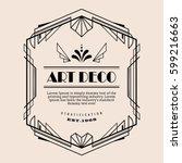 art deco vintage border vector... | Shutterstock .eps vector #599216663