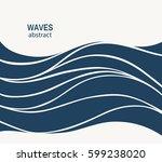 water wave logo abstract design.... | Shutterstock .eps vector #599238020